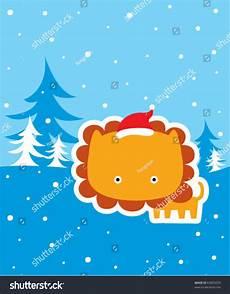 merry christmas lion stock vector 63855679