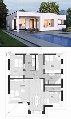 grundriss bungalow modern moderner bungalow im bauhaus design mit flachdach