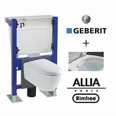 Suspended Toilet With Geberit Wall Frame And Allia Lovely