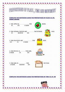 preposition of time worksheets for grade 3 3491 prepositions of place time and movement worksheet free esl printable worksheets made by teachers