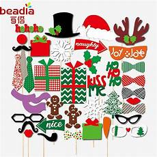 17 28 39pcs merry christmas photo booth props decorations for home ornaments santa claus