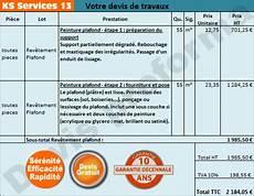 estimation prix au m2 ks services 13 prix devis peinture plafond