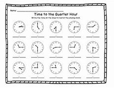 time worksheet quarter and half 3157 telling time to the quarter hour printable worksheets by kdgteacherabc