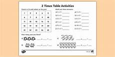 2 times table activity ks1 ks2 maths