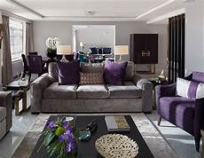 black and purple living room how to decorate with 2018 pantone color of the year ultra