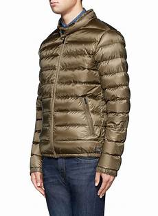 lyst scotch soda quilted jacket in green for