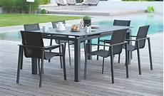 table jardin extensible alu table de jardin rallonge automatique en alu anthracite 180 240 cm