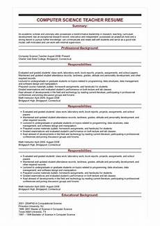 sle computer science teacher resume
