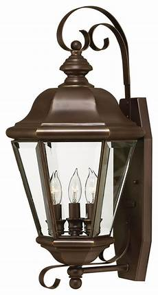 hinkley lighting large outdoor wall sconce shown in copper bronze finish traditional outdoor