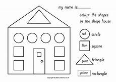 worksheets colors and shapes 12704 color the shapes in the shape house worksheet for 1st 3rd grade lesson planet