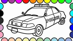 How To Draw And Color Police Car Colouring Pages Vehicles