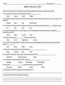 dinosaur grammar worksheets 15313 bill nye s1e3 dinosaurs follow along sheet with answer key dinosaur bill nye