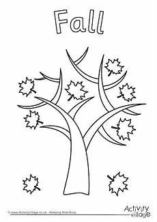 Ausmalbilder Herbst Baum Fall Tree Colouring Page