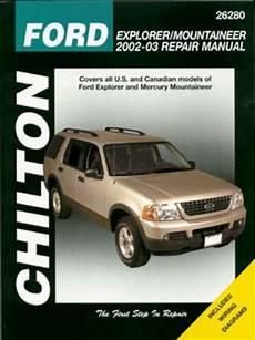 automotive repair manual 2002 ford explorer sport electronic valve timing chilton ford explorer mercury mountaineer 2002 2010 repair manual