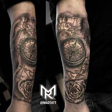 Compass And Italy Map Map Tattoos Compass