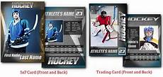 photoshop sports card template free hockey graphite arc4studio