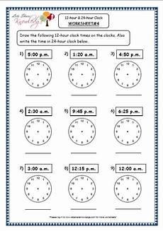 printable worksheets on time for grade 4 3763 grade 4 maths resources 7 1 time 12 hour 24 hour clock printable worksheets clock
