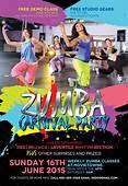 Zumba Fitness Carnival Party Flyer  Themestacknet
