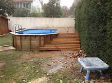 Terrasse En Bois Pour Piscine Hors Sol Veranda Styledevie Fr