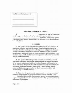 durable power of attorney form washington free download