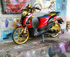 Modifikasi Yamaha 125 by Modifikasi Yamaha Fino 125 Thailook Scooter Custom Cars