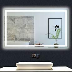 Miroir De Salle De Bain 100x60cm Anti Bu 233 E Miroir