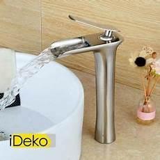 lavabo salle de bain pas cher i ideko 174 robinet mitigeur lavabo cascade vasque salle de bain haut noir en 2019 mitigeur