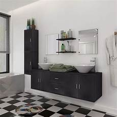 meuble noir salle de bain ensemble de meuble mobilier de salle de bain et lavabo