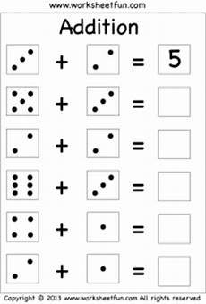 digit addition worksheets for kindergarten 9313 dice free printable worksheets worksheetfun