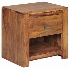 nachttisch le finebuy table de chevet bois massif 40x40x30 cm table de