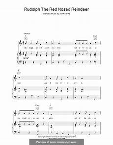 rudolph the red nosed reindeer by j marks sheet music on musicaneo