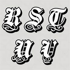 alfabeto gotico lettere alfabeto gotico maiuscolo lettere r s t u v in uno