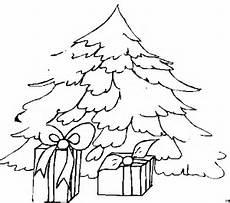 ausmalbild tannenbaum mit geschenken ausmalbilder