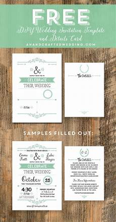 free printable wedding invitation template do it