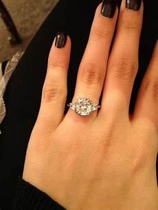 3 carat 3 stone diamond engagement ring so sparkly if i ever get married again