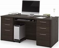 embassy dark chocolate 66 quot executive desk kit from bestar coleman furniture