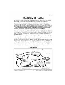 types of rocks sort cut and paste learning is fun