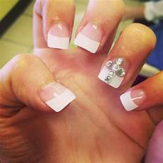 nails 2013 prom cross diamond cute french tips french