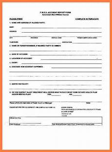 motor vehicle accident report form template 5 company accident report form company letterhead