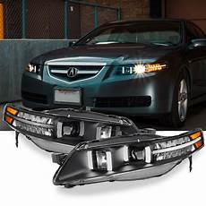acura tl lights black fits 2004 2008 ua7 acura tl led projector