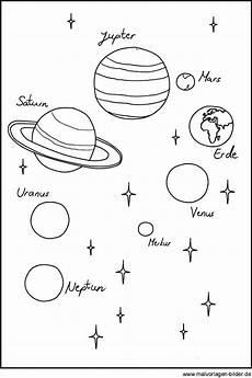 ausmalbilder sterne und planeten ausmalbilder sonnensystem