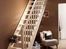 Escalier Droit En Bois Naturel Pin De Chez Leroy Merlin
