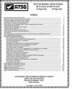 free online auto service manuals 1999 mitsubishi montero sport auto manual mitsubishi montero r v4a51 v5a51 transmission repair manual atsg pdf online download