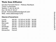 ᐅ theix inox diffusion horaires d ouverture s n rue