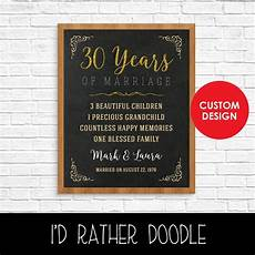 30 Year Wedding Anniversary Gifts For Couples