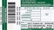 certified mail return receipt template nco financial the worst collection agency vaughn s