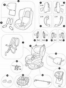 maxi cosi tobi spare parts for the child seat