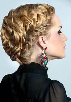 festliche frisuren lange haare flechten hochsteckfrisuren