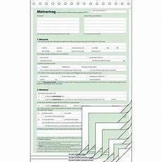 mietvertrag a4 4x2blatt selbstdurchschreibend sigel mv480