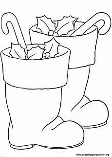 santa boots printable coloring pages